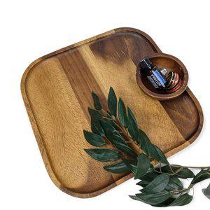 Wood Tray And Bowl Set